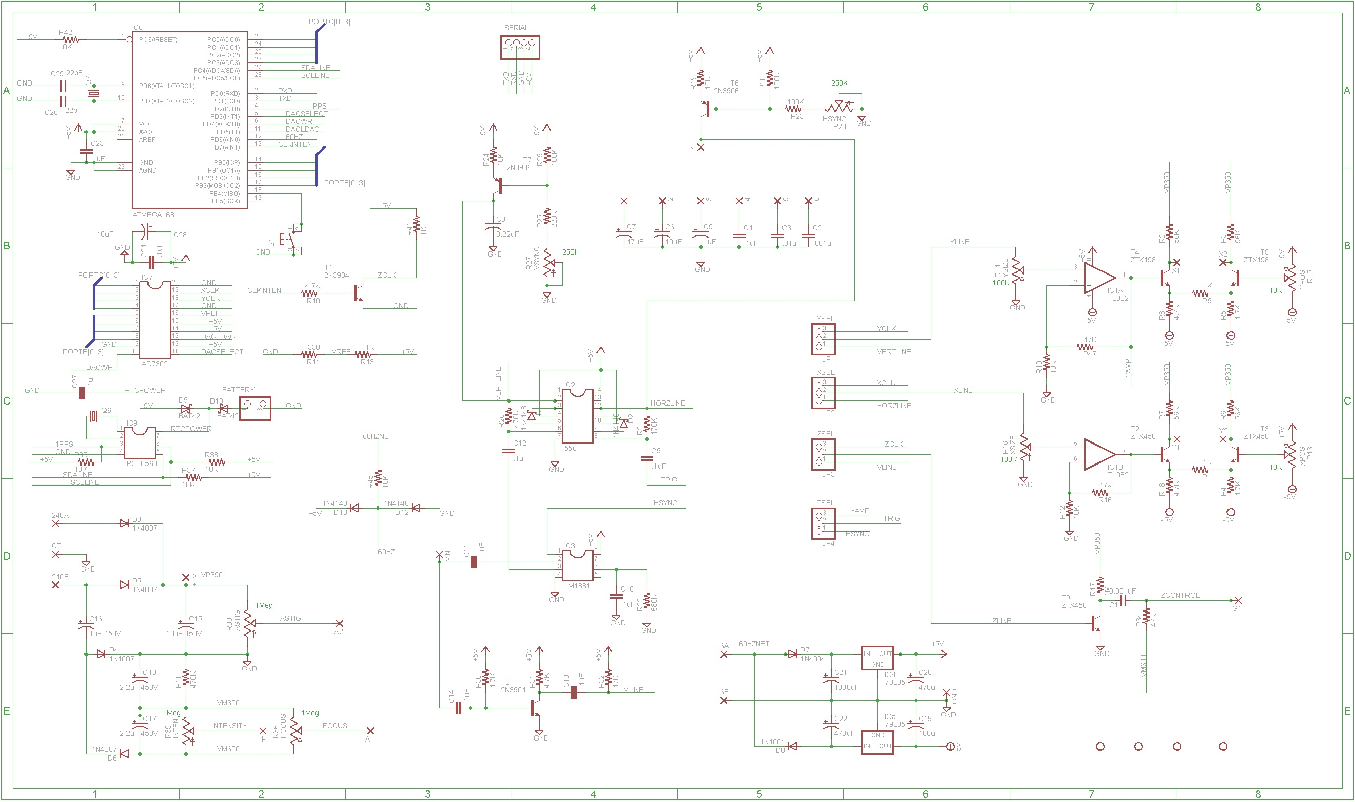 Crt Clocks Screen Schematic Here Are The Schematics